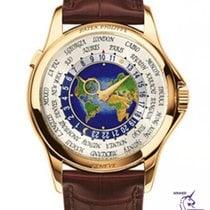 Patek Philippe World Time Жёлтое золото 39.5mm Белый Aрабские