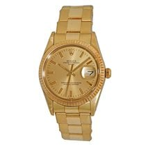 Rolex 14K Yellow Gold 34mm Oyster Perpetual Date 15037...