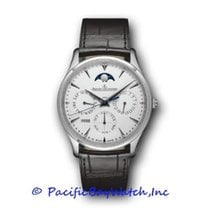 Jaeger-LeCoultre White gold Automatic Silver 39mm new Master Ultra Thin Perpetual