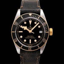Tudor Heritage Black Bay S&G Black Steel/Leather 41mm - 79733N