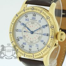 Longines Yellow gold Automatic White 47.5mm pre-owned Lindbergh Hour Angle