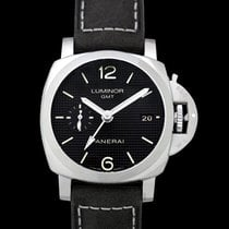 Panerai Luminor 1950 3 Days GMT Automatic Aço 42mm Preto