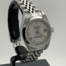 Rolex Oyster Perpetual Lady Date Сталь 26mm Белый Римские