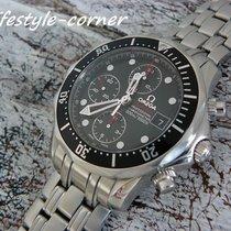 Omega Seamaster Diver 300 M подержанные 41mm Чёрный Хронограф Сталь