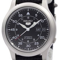 Seiko SNK809K2 Steel 5 37mm new