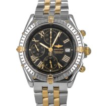 Breitling Crosswind Racing pre-owned 44mm Black Chronograph Date Gold/Steel