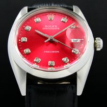 Rolex Oyster Precision Steel 34mm Red No numerals United States of America, Utah, Draper