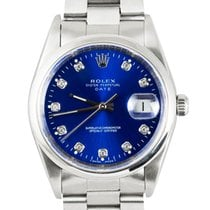 Rolex Oyster Perpetual Date Steel 34mm Blue No numerals United Kingdom, London