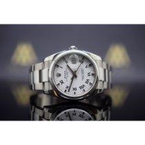 Rolex Oyster Perpetual Date occasion 34mm Blanc Date Acier