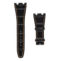 Audemars Piguet Black Alligator Strap with Orange Stitches