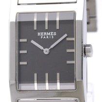 Hermès Tandem Steel Quartz Mens Watch Ta1.710 Bf310964