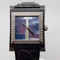 Gucci Mother-of-Pearl Dial Diamond Watch 111J