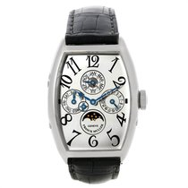 Franck Muller Platinum Automatic Silver Arabic numerals 38mm pre-owned Casablanca