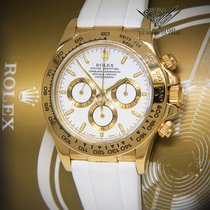 Rolex Daytona Zenith Chronograph 18k Yellow Gold White...