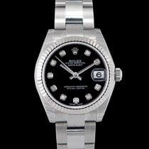 Rolex Lady-Datejust Or blanc 31mm Noir