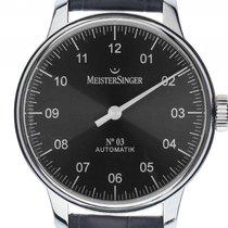 Meistersinger N° 03 Steel 43mm Grey Arabic numerals