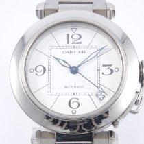 Cartier Pasha C Stahl 35mm Weiß Arabisch Deutschland, Bielefeld