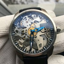 Tissot Manual winding 2016 pre-owned T-Complication Transparent