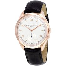Baume & Mercier Red gold Manual winding Silver 42mm new Clifton