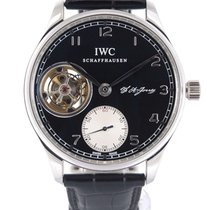 IWC Platinum Black 43mm Portuguese Tourbillon