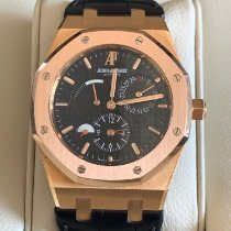 Audemars Piguet Royal Oak Dual Time Oro rosado 39mm Negro Sin cifras
