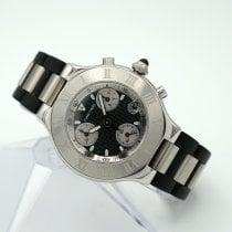 Cartier 21 Chronoscaph Сталь 38mm Чёрный