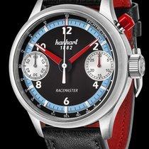 Hanhart Racemaster Steel 45mm Black Arabic numerals