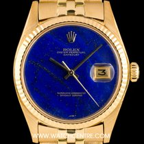 Rolex 18k Y/G Rare Lapis Lazuli Dial Datejust Vintage  B&P 1601