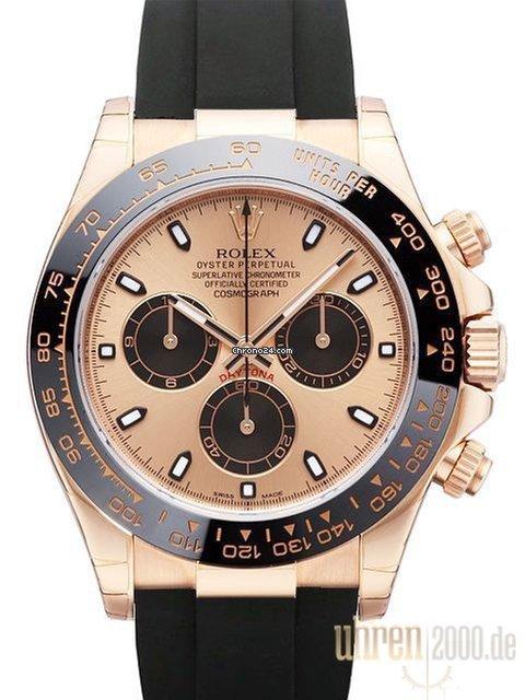 Hodinky Rolex Daytona Růžové zlato  b3243a7e4c