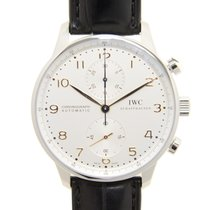 IWC Portuguese Stainless Steel Silver Automatic IW371445