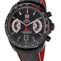 TAG Heuer Chronographe 43mm Remontage automatique occasion Grand Carrera Noir
