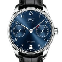 IWC Steel Automatic Blue 42.3mm new Portuguese Automatic