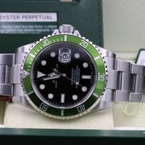 Rolex Submariner Date 16610LV Ghiera Verde Card Unpolished