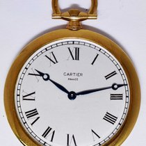 Cartier Vintage Pocket Watch 44mm 18k Yellow Gold