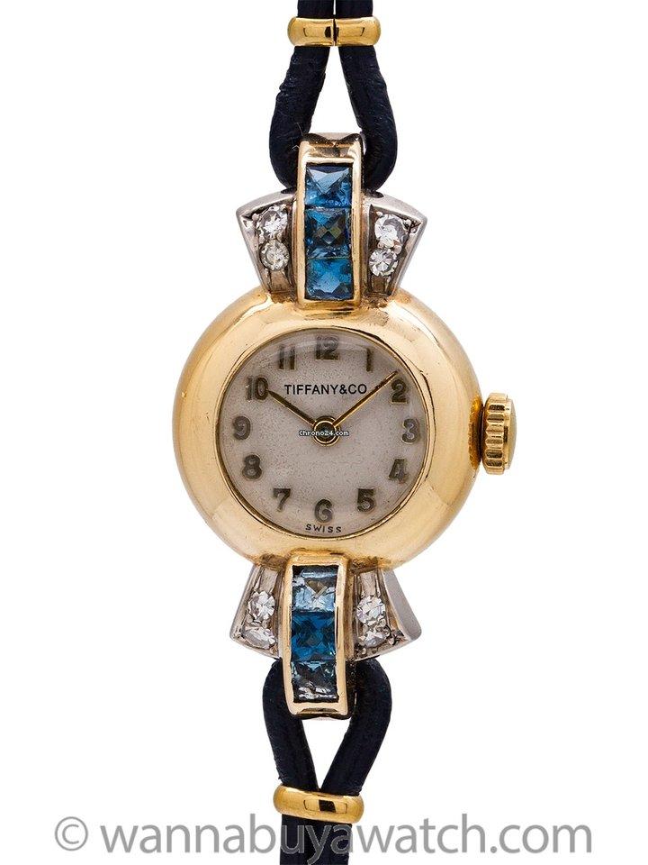 af57a62addf36 Tiffany Lady's 14K YG Sapphires & Diamonds circa 1940's