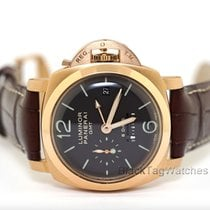 Panerai Luminor 1950 8 Days GMT pre-owned 44mm Rose gold