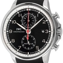 IWC Portuguese Yacht Club Chronograph Stål 45mm Sort Arabertal