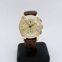 Chronographe Suisse Cie Roségoud 37mm Handopwind tweedehands Nederland, 'S-GRAVENHAGE