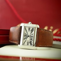 Cartier Tank Divan Steel 38mm White Roman numerals