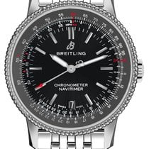 Breitling Navitimer Steel 38mm Black No numerals
