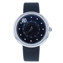 Chanel White gold Automatic Black 37.5mm new Mademoiselle