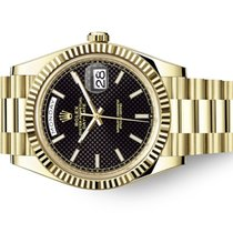 Rolex Day-Date 40 Or jaune 40mm Noir