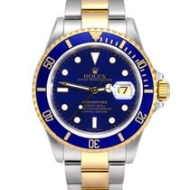 Rolex Submariner Date Gold/Steel 40mm Blue No numerals