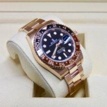 Rolex GMT-Master II Rose gold 40mm Black No numerals