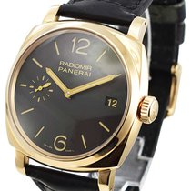 Panerai Radiomir 1940 3 Days pre-owned 47mm Brown Crocodile skin
