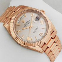 Rolex Day-Date President Rose Gold 40mm 228235 Sundust Roman Dial