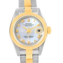 Rolex Datejust Steel Yellow Gold Mop Roman Dial Ladies Watch...