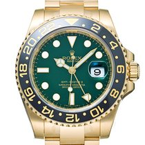 Rolex Yellow gold Automatic Green No numerals 40mm new GMT-Master II