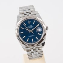 Rolex Datejust 41 blue Index LC 100  unworn box and papers