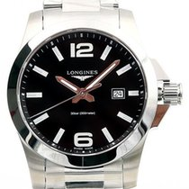 Longines Conquest Zeljezo 43mm Crn